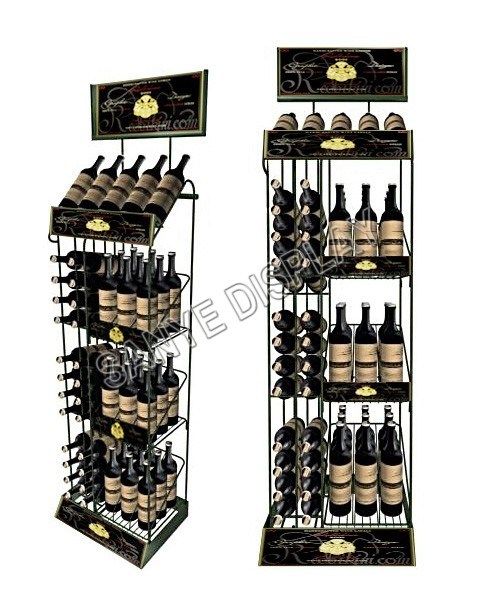 Metal Commercial Wine Display Racks