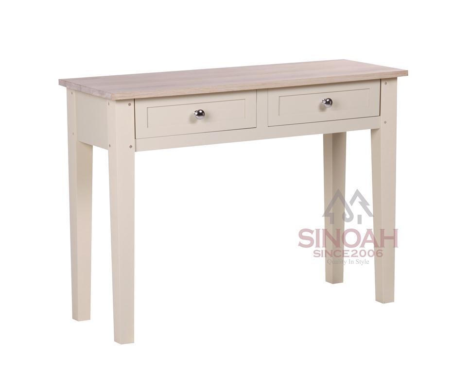 China hall table oak wood console table cream painted for Painted foyer tables
