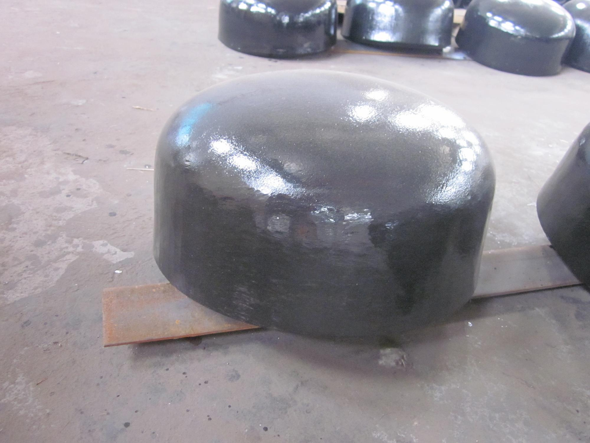 China butt weld caps carbon steel pipe fittings
