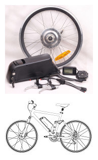 Spare Parts for Electric Bicycle Conversion Kit (JB-FV700-NT)