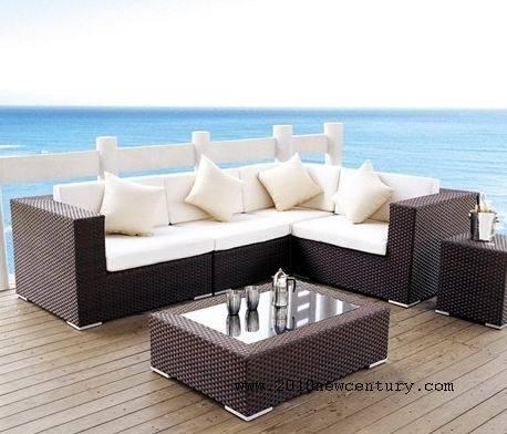 Outdoor rattan weave sofa set garden patio furniture for Patio furniture covers makro