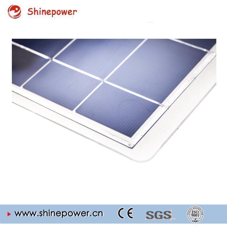 50 Watts 12 Volts Poly Semi-Flexible Solar Panel / Connectors for RV Boat