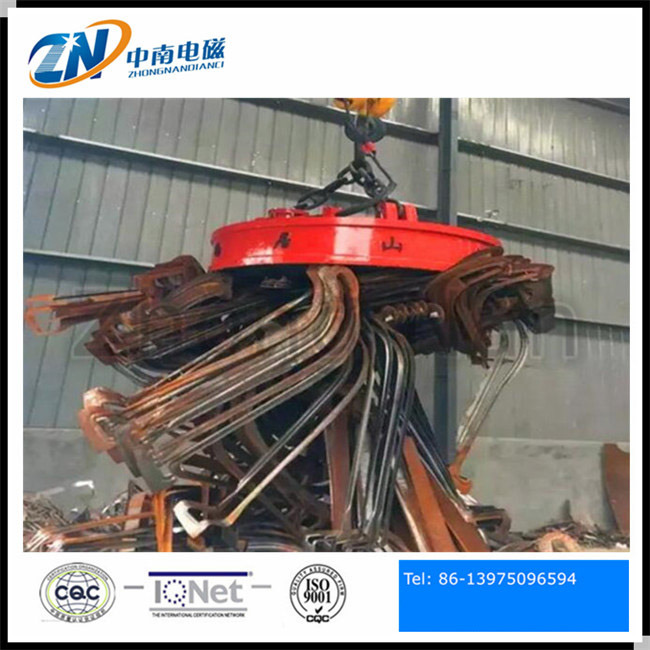 Circular Shape Electric Lifting Magnet for Steel Scrap of 2100mm Diameter MW5-210L/1