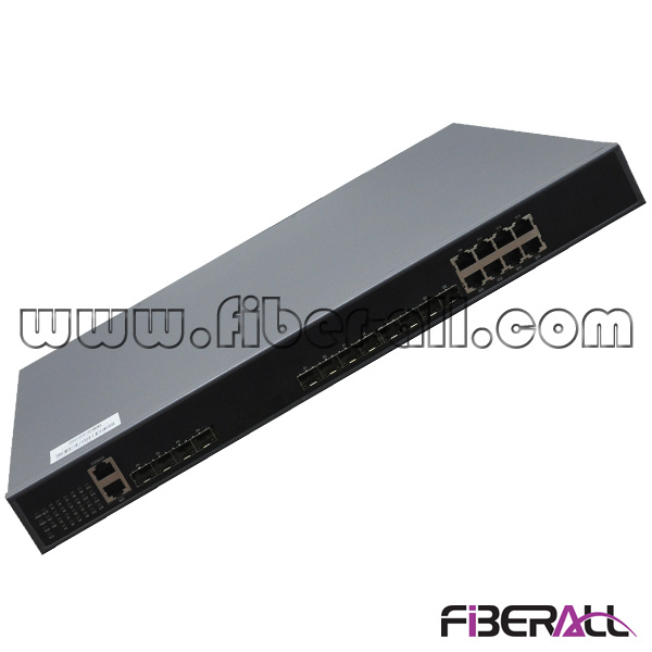 102g Cassette Olt for Gpon with 4 1g Pon 8 Ge Combo Ports