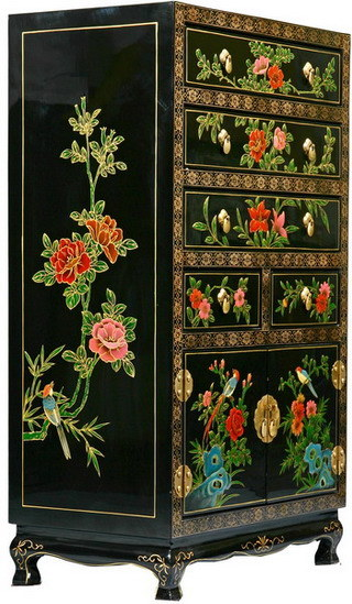 China antique handpainted furniture china handpainted for Hand painted oriental furniture