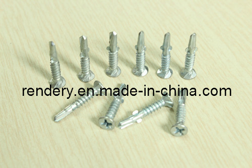 Bee Wing Csk Head Self Drilling Screw with Ribs