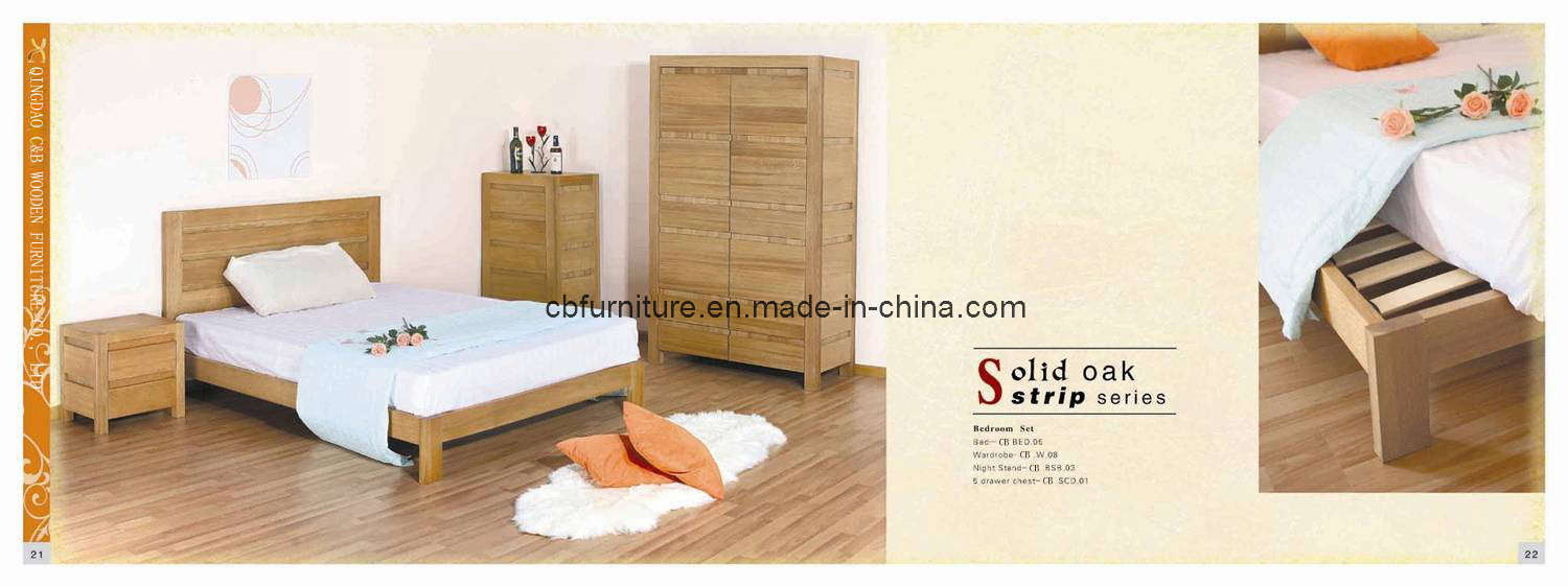 China solid oak furniture bedroom wooden