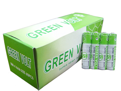 R03 AAA Carbon Zinc Battery in Full Box (Green Volt)