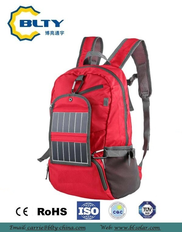 2017 Fashionable Solar Backpack for Trvelling and Camping