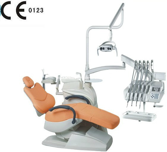 Leather LED Dental Chair Unit Osa-208e Floor Type