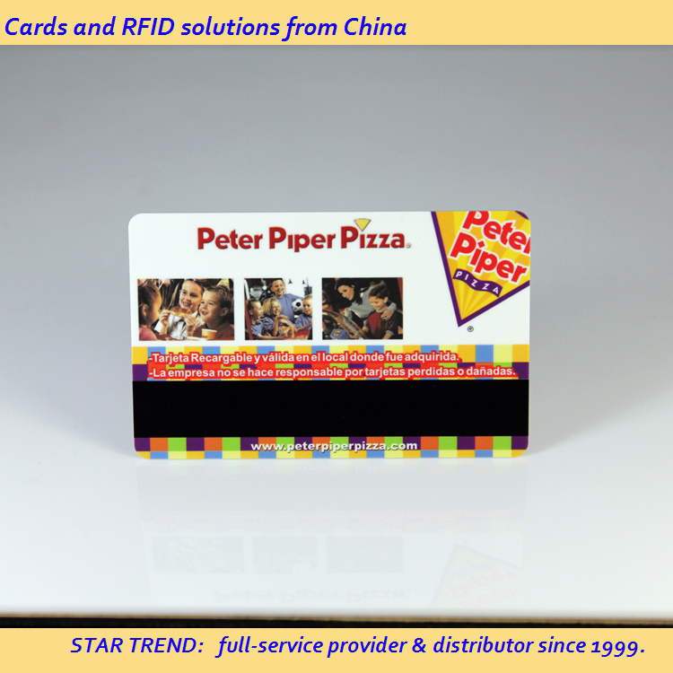 Four Color Cr80 Standard Card with Magnetic Stripe for Hair Salon