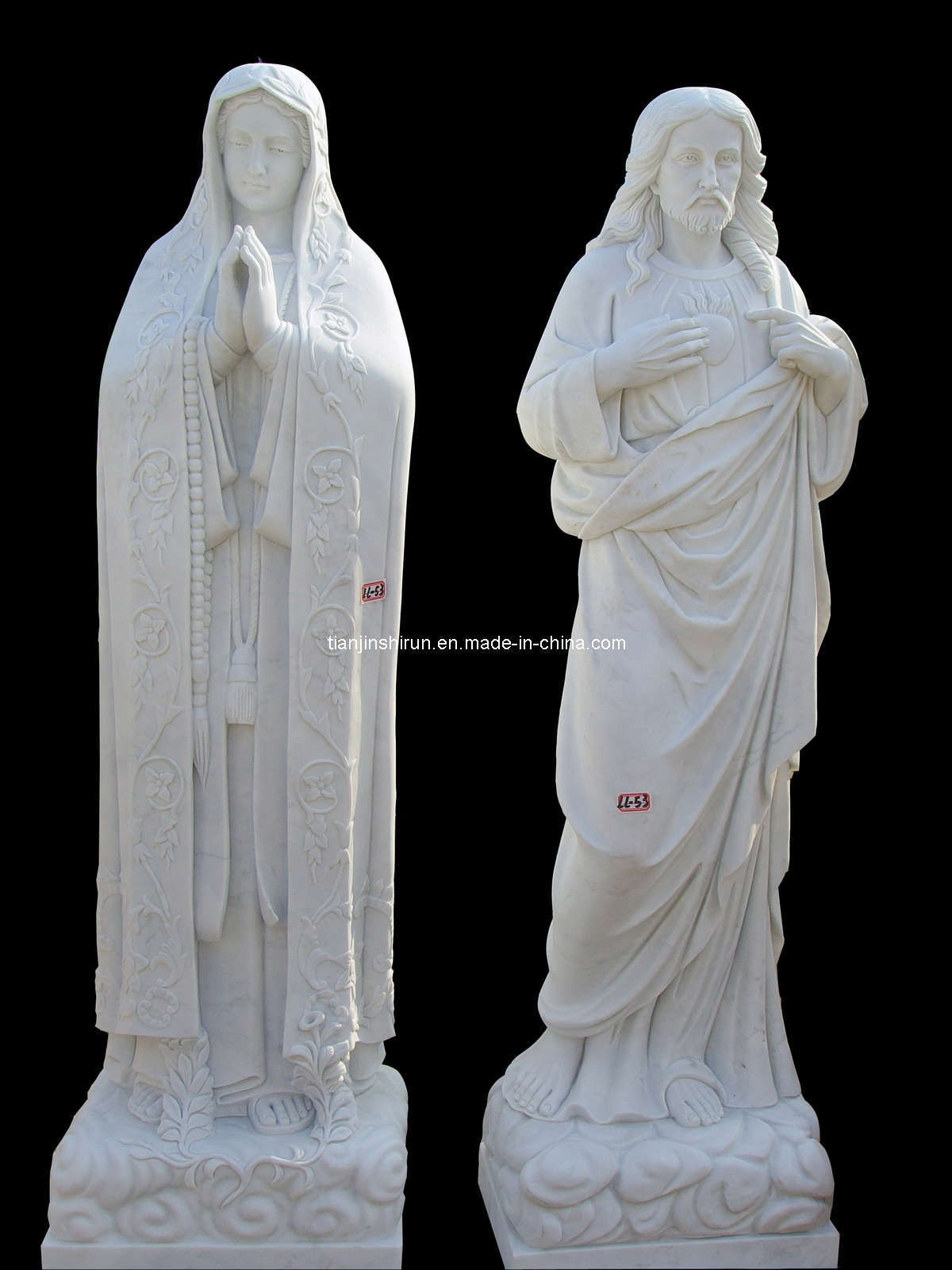 Stone Carving Holly Virgin Mother Maria Statue Sculpture (LL60)