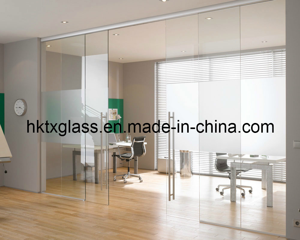 china office glass doors / office glass room divider with en12150