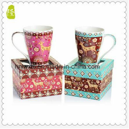 Wholesale 11oz Ceramic V Shaped Coffee Mug for Sale