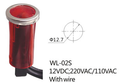 Wl-02s 12 Volt Wire LED Indicator Light (WL-02S)