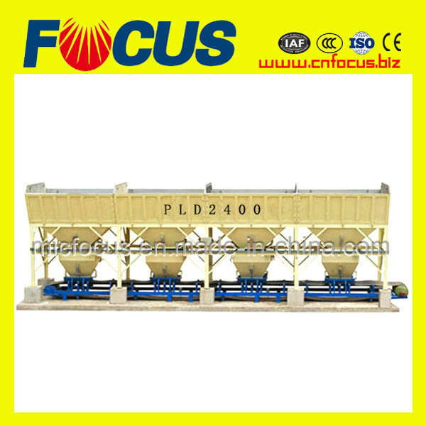 120m3/H Aggregate Batcher, PLD2400 Batching Machine for Concrete Mixing Plant