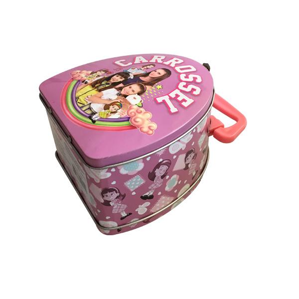Handle Lunch Tin Packaging Box Metal Food Pacakaging Box Custom Print