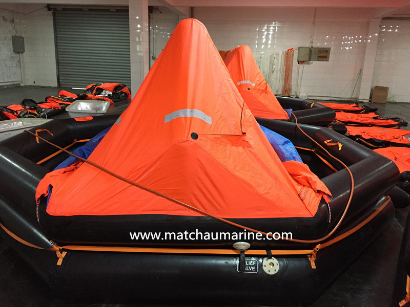 China Competitive Price Davit Launched Inflatable Solas Liferaft for Sale