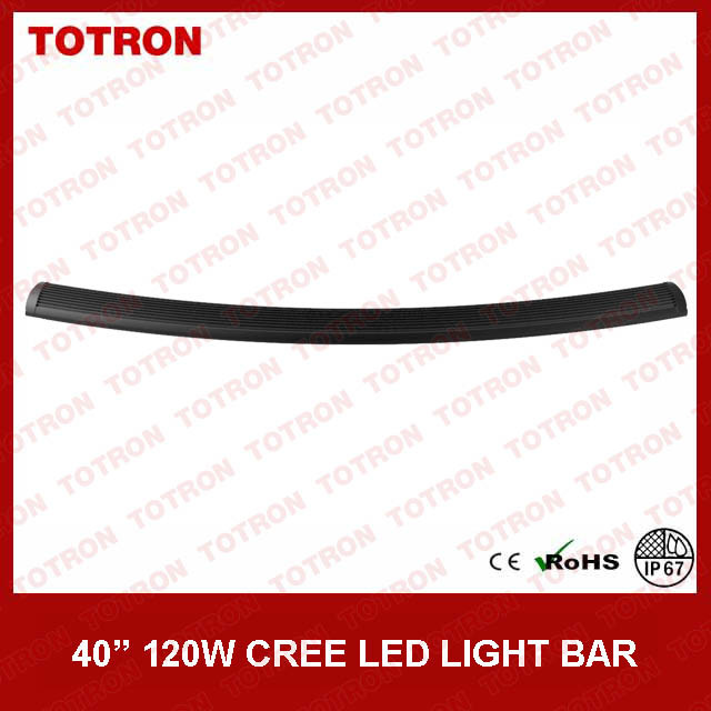 """40"""" 120W Single Row Curved LED off Road Light Bar for 4X4 (TLB1120X)"""