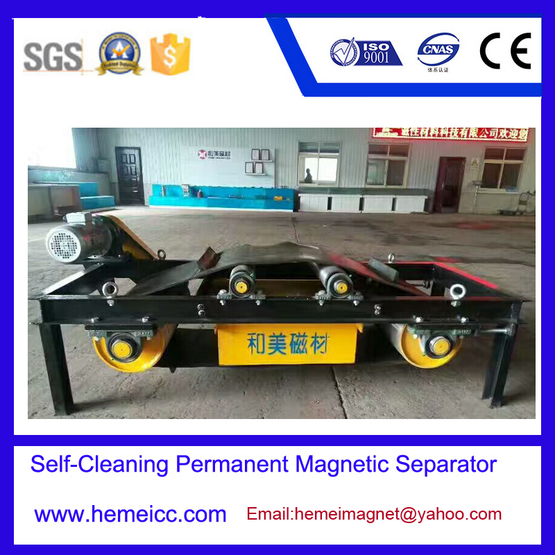 Self-Cleaning Permanent Magnetic Separator for Cement, Building Material