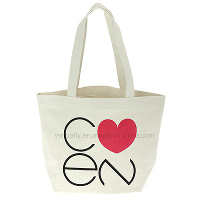 Customized Natural Reusable Promotion Canvas Cotton Bag Tote Bag