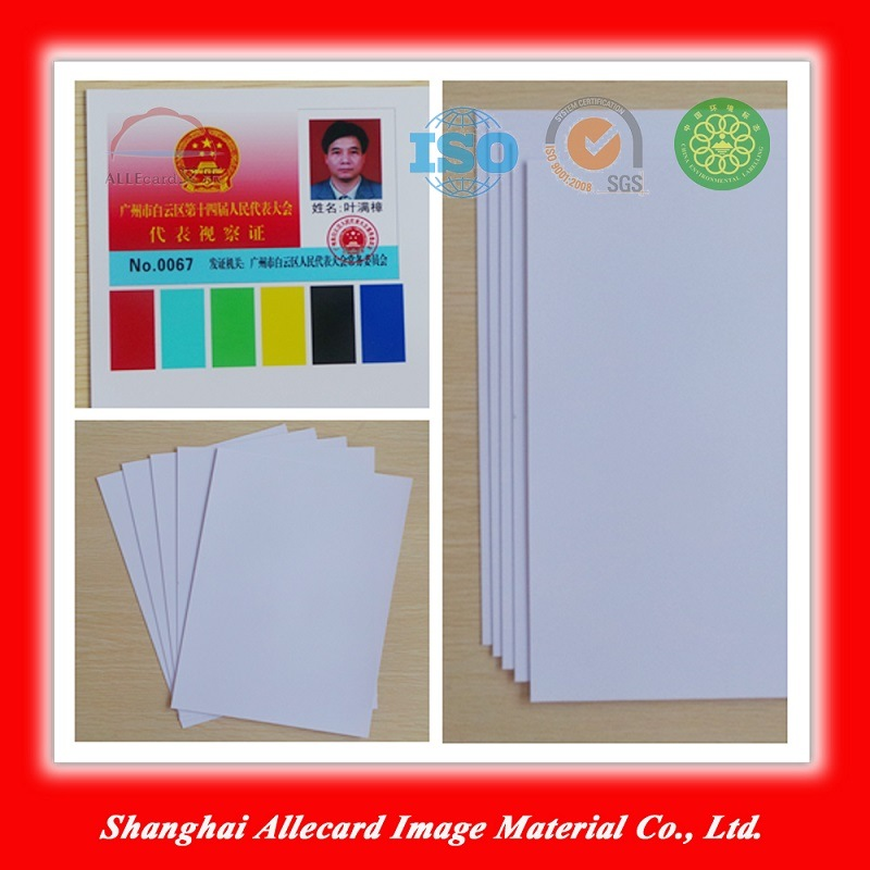 White PVC Laser ID Card Making Material