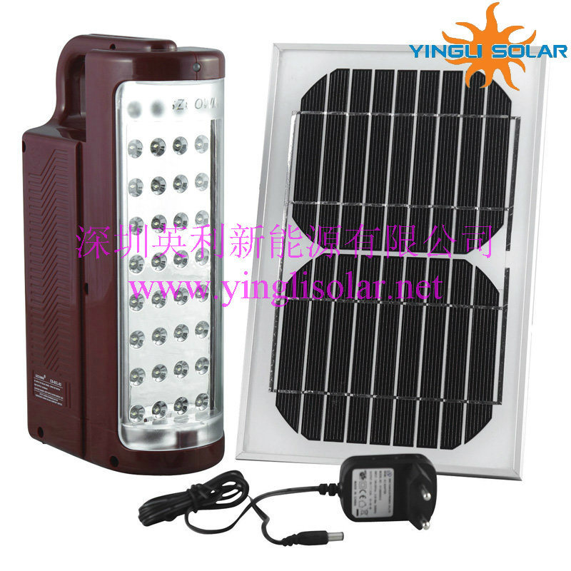 Solar Camping Lamp with LED Lights and Solar Panel (SZYL-SCL-03)