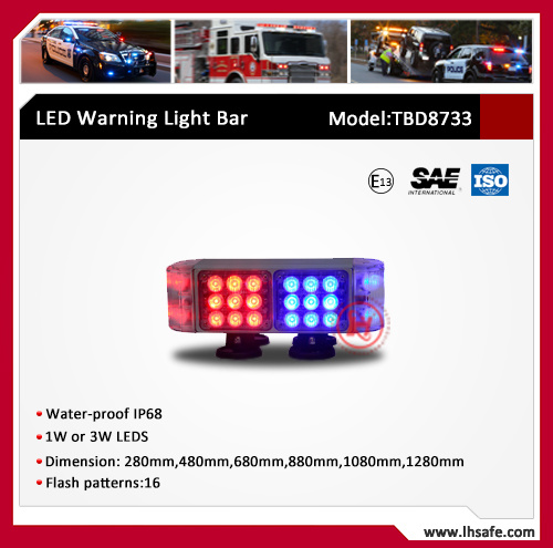 LED Mini Ambulance Warning Light Bar (TBD8733-0.28M)