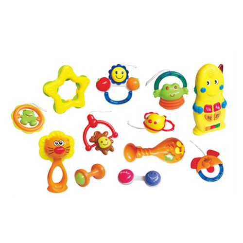 Plastic 12PCS Baby Bell Set Baby Rattle (H0001181)