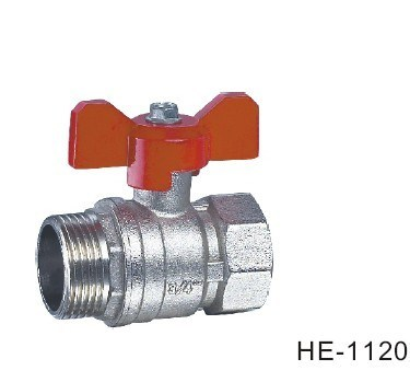 (HE1120--HE1123) Brass Ball Valve Pn16 with Wing Handle for Water, Oil