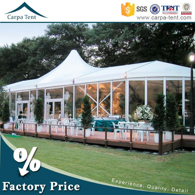 Large Luxury Outdoor Party Mixed Tent with Glass Wall