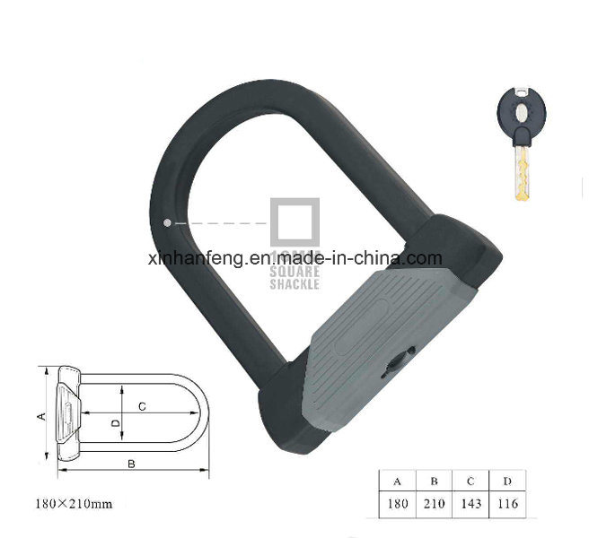High Quality Anti-Theft Combination Bicycle U Shape Lock (HLK-007)