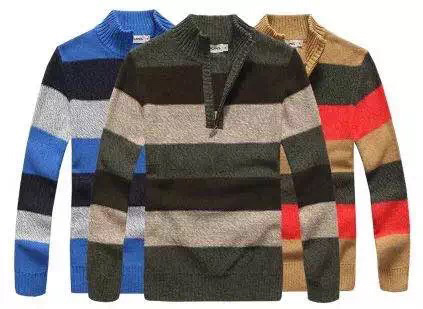 Men′s Knitted Sweater Cardigan (0167)