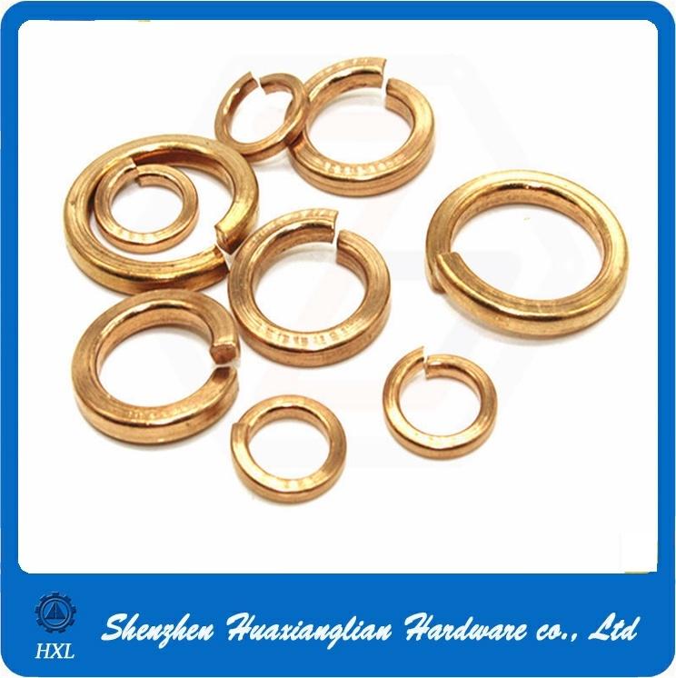 Copper/Brass Split Spring Washer DIN 127