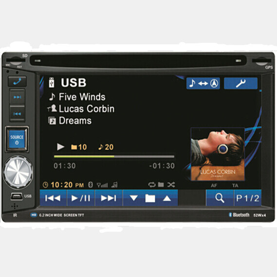Two DIN Car Stereo with GPS Navigation System
