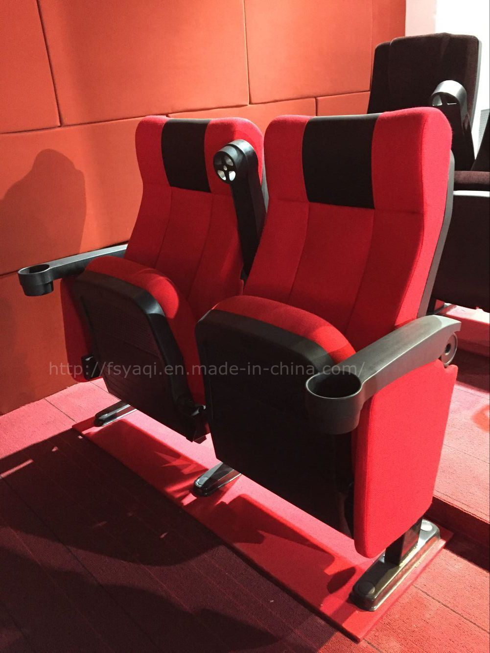 Factory Sale Theater Seating Cinema Chair with Cup Holder (YA-08C)