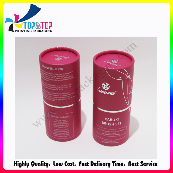 OEM Design Sliver Stamping Cylinder Paper Box Shenzhen Package Printing