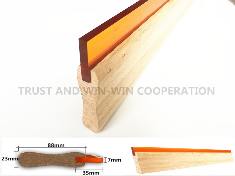 U Shaped Screen Printing Wooden Squeegee