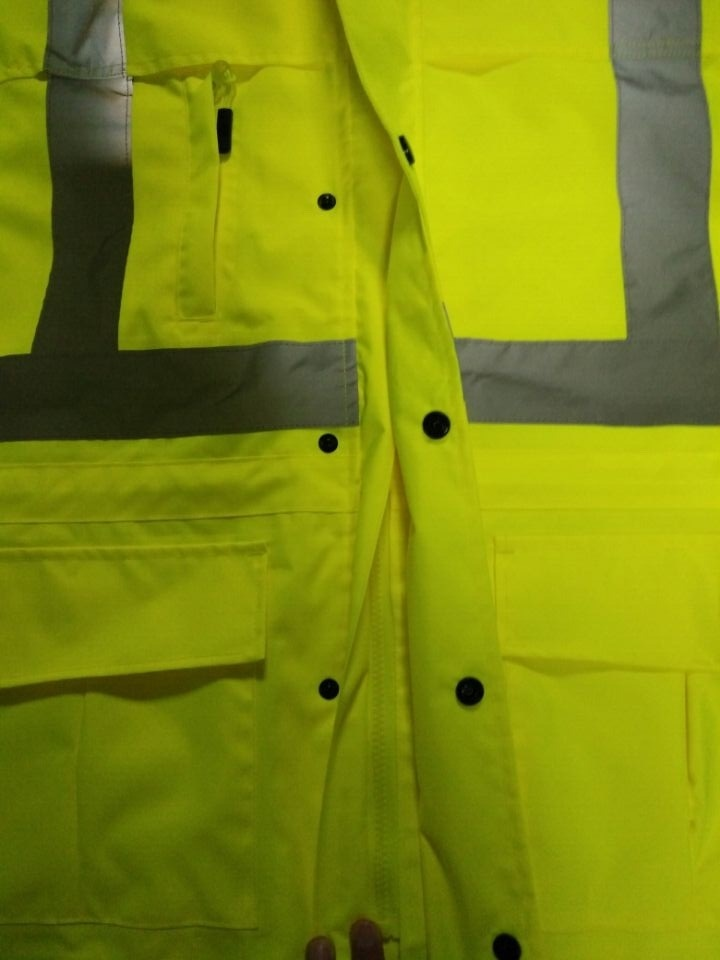 High Quality Reflective Raincoat with En20471 Standard
