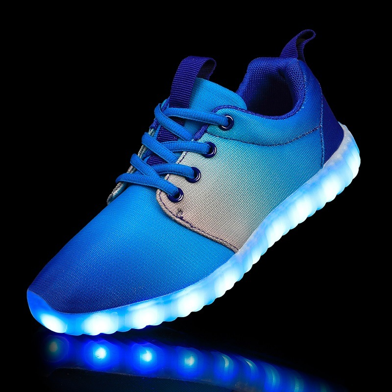 Wholesale USB Charging LED Sport Shoes Wish Mesh for Men and Women