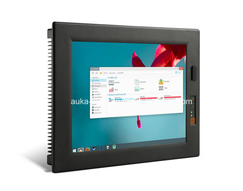 "15"" Industrial Panel Computer with Windows XP/7/10/Linux, Magnesium Alloy Body"