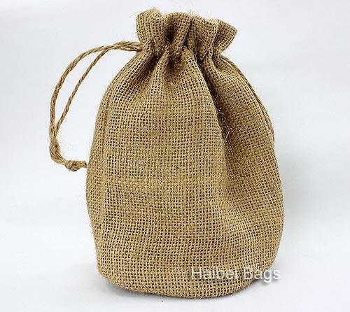 Custom Drawstring Jute Bag, Burlap Shopping Bag, Hemp Tote Bag, Jute Pouch