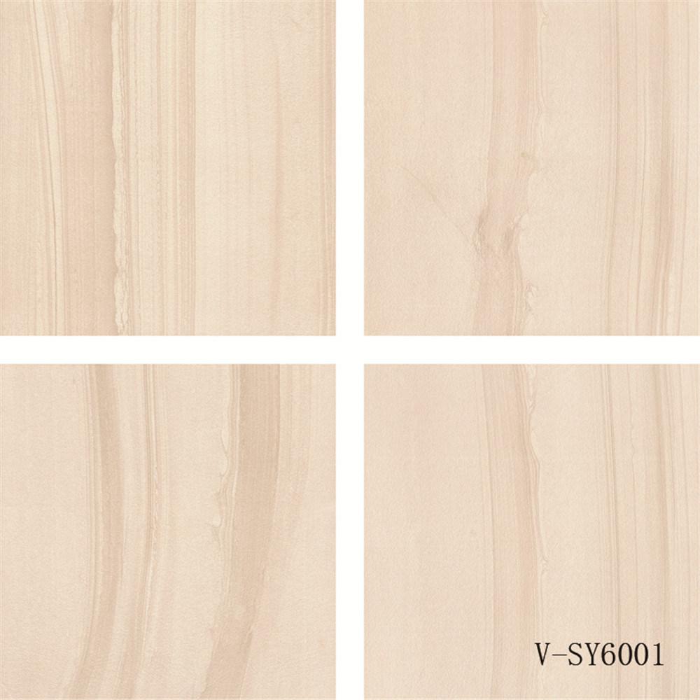 New Design Semi-Polished Marble Four Different Faces Porcelain Beige Floor Tile (600X600mm)