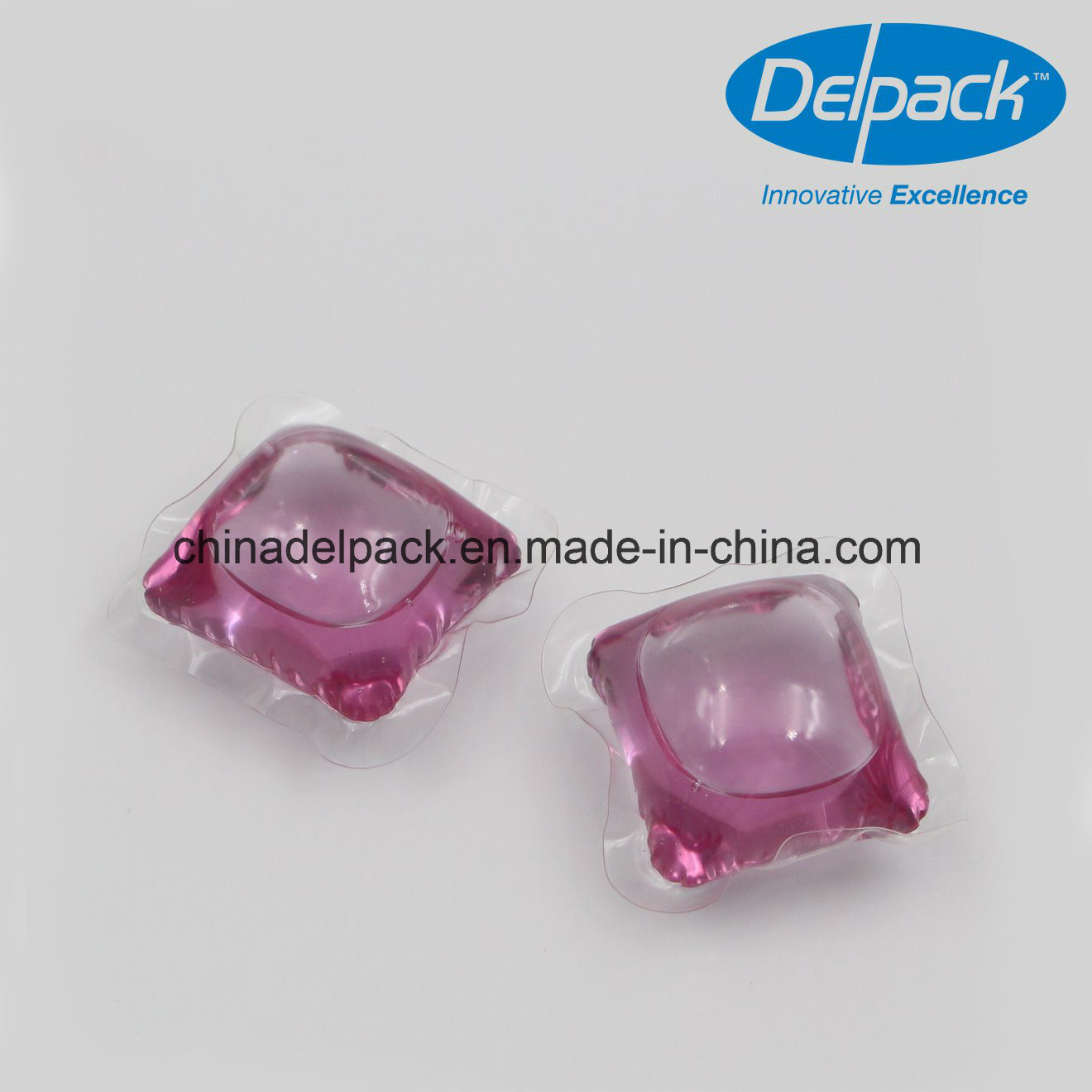 OEM&ODM 15g with Purple Dyes Laundry Washing Detergent Pod, Concentrated Laundry Liquid Detergent Capsule