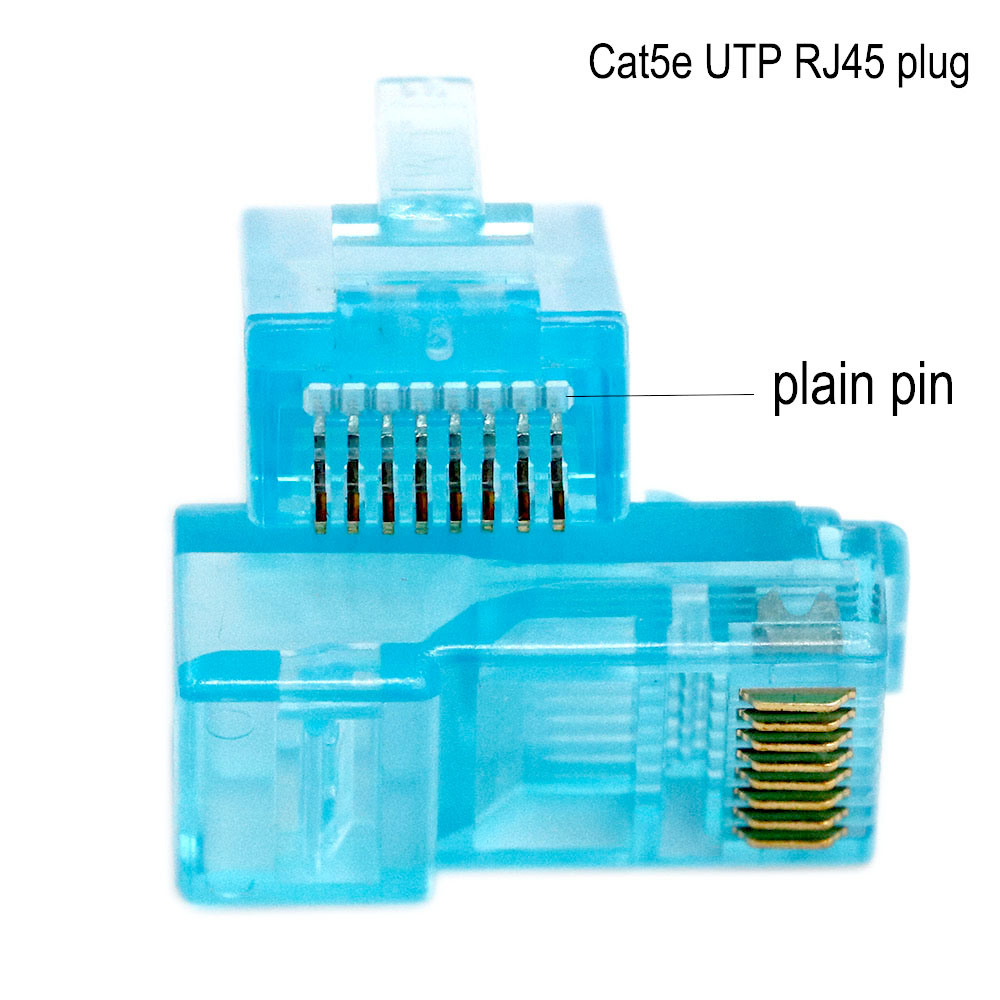 RJ45 Connector /Plug 100-Park RJ45 CAT6 Unshielded Plug Modular 8p8c Patch Cable Connector