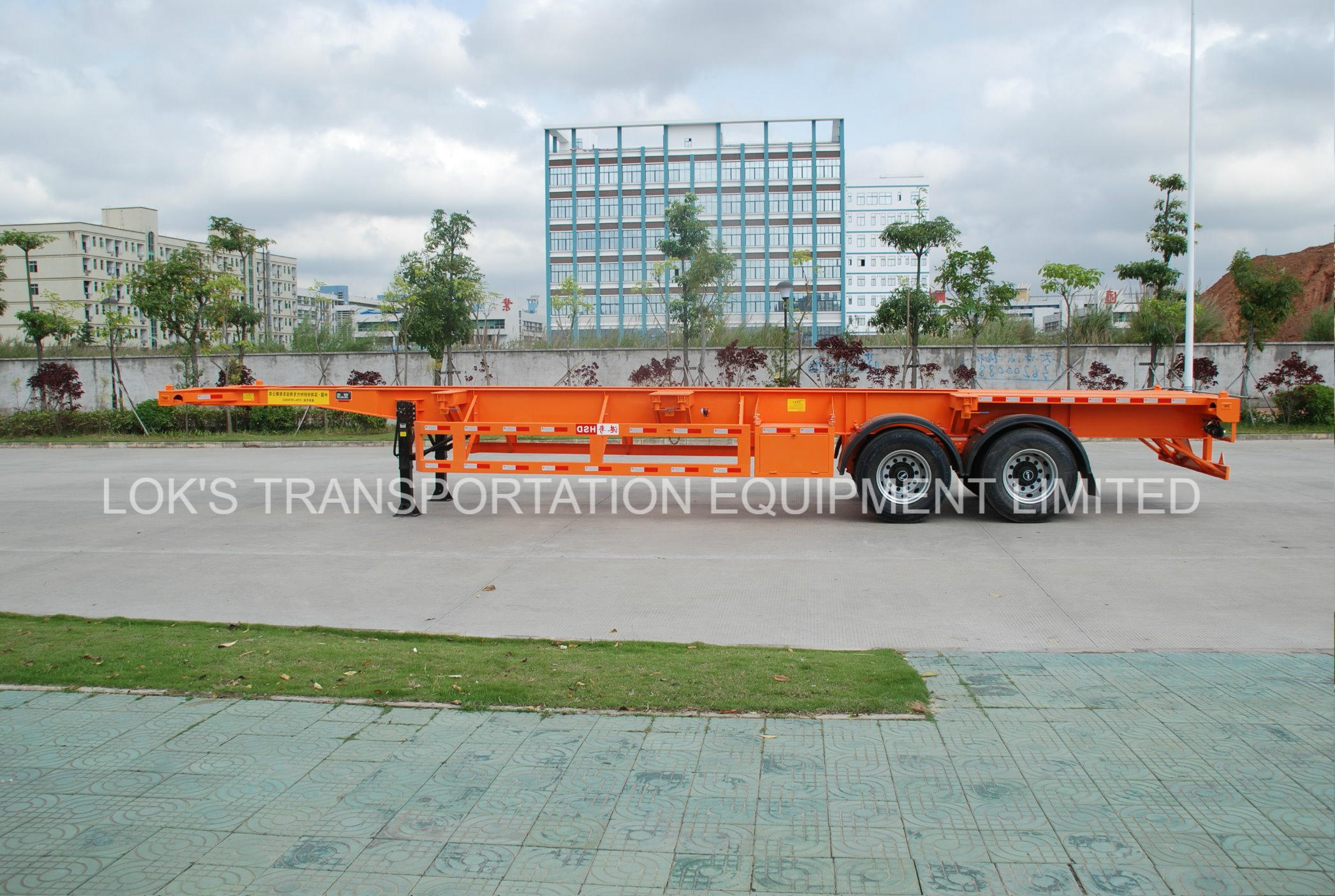 40 Feet 2 Axles Skeleton Container Van Semitrailer