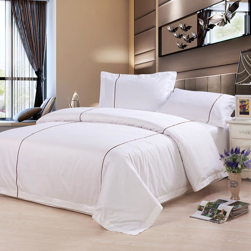 2017 New Cotton Bed Linen for Hotel Textile Bedding Set (DPF201701)