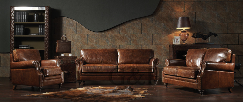 New Leather Corner Living Room Sofa Set