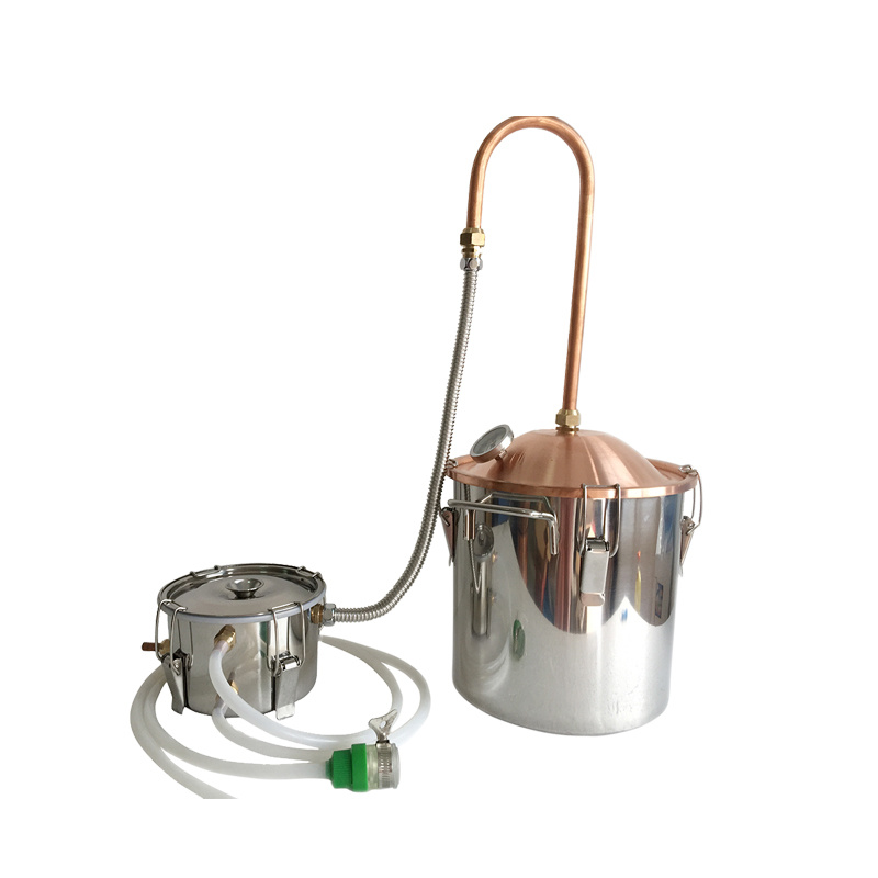 Kingsunshine 10L/3gal Home Use Copper Lid Stainless Steel Body Distillers, to Make Whiskey/Vodka/Rum/Moonshine