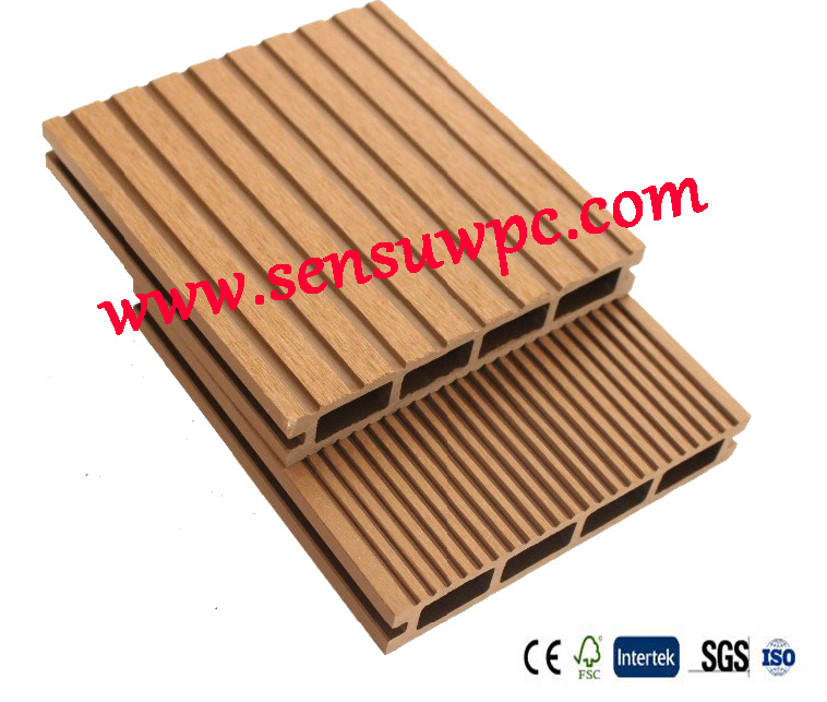 Sensu High Quality and Cheap Hollow WPC Decking Made in China